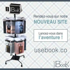 USeBook Lionel Meslier Marion Georges presentoir de comptoir